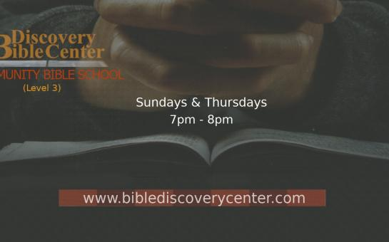 Bible Discovery Center Community Bible School, Level 3